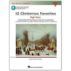 Hal Leonard 12 Christmas Favorites For High Voice Book/CD (384)