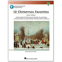 Hal Leonard 12 Christmas Favorites For Low Voice Book/CD (385)