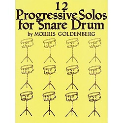 Hal Leonard 12 Progressive Solos For Snare Drum Book (347783)