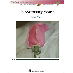 Hal Leonard 12 Wedding Solos For Low Voice (The Vocal Library Series) Book/CD (1187)