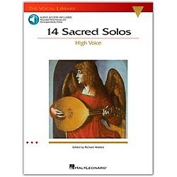 Hal Leonard 14 Sacred Solos For High Voice Book/2CD's (740292)