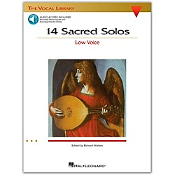 Hal Leonard 14 Sacred Solos For Low Voice Book/2CD's (740293)