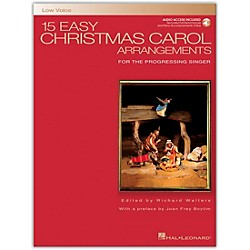 Hal Leonard 15 Easy Christmas Carol Arrangements For Low Voice Book/CD (460)