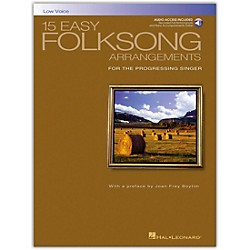 Hal Leonard 15 Easy Folksong Arrangements For Low Voice Book/CD (740269)