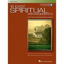 Hal Leonard 15 Easy Spiritual Arrangements For High Voice Book/CD (391)