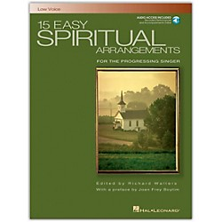 Hal Leonard 15 Easy Spiritual Arrangements For Low Voice Book/CD (392)