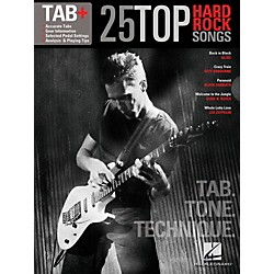 Hal Leonard 25 Top Hard Rock Songs  Tab, Tone & Technique Guitar Tab Songbook (102469)