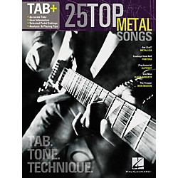 Hal Leonard 25 Top Metal Songs from Guitar Tab + Songbook Series - Tab, Tone & Technique (102501)