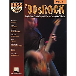 Hal Leonard 90s Rock Bass Play-Along Series Book with CD (699679)