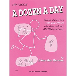 Hal Leonard A Dozen A Day Mini Book Technical Exercises For The Piano (Pink cover) (404073)