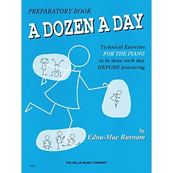Hal Leonard A Dozen A Day Preparatory Book Technical Exercises For Piano (Blue cover) (414222)