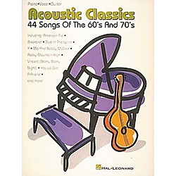 Hal Leonard Acoustic Classics 44 Songs Of The '60s And '70s Piano, Vocal, Guitar Songbook (310024)