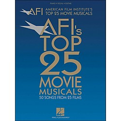 Hal Leonard American Film Institute's Top 25 Movie Musicals arranged for piano, vocal, and guitar (P/V/G) (311410)