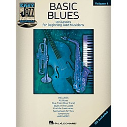 Hal Leonard Basic Blues - Easy Jazz Play-Along Vol. 4 Book/CD (843228)