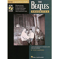 Hal Leonard Beatles Favorites Guitar Signature Licks Book with CD (695096)