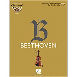 Hal Leonard Beethoven: Two Romances For Violin, Op. 40 In G & Op. 50 In F - Clsply (Book/CD) Vol.20 (842452)
