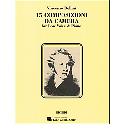 Hal Leonard Bellini - 15 Composizioni Da Camera For Low Voice & Piano (740065)