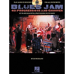Hal Leonard Blues Jam 40 Progressions & Grooves (Book/CD) (311449)