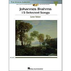Hal Leonard Brahms - 15 Selected Songs For Low Voice (The Vocal Library Series) Book / 2 CD's (1142)