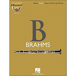 Hal Leonard Brahms: Clarinet Sonata In F Minor, Op.120, No.1 - Classical Play-Along (Book/CD) Vol.19 (842451)