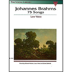 Hal Leonard Brahms 75 Songs For Low Voice (740015)
