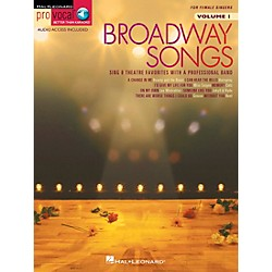 Hal Leonard Broadway Songs For Female Singers - Pro Vocal Series Volume 1 Book/CD (740247)