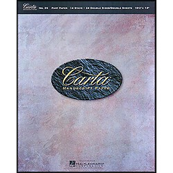 Hal Leonard Carta 29 Partpaper 10.5X13, Dbl Sided, 24 Sheet, 14 Stave Manuscript (210062)