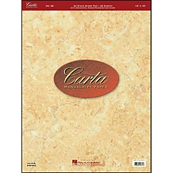 Hal Leonard Carta Manuscript 20 Scorepad 12 X 16, 40 Sheets, 24 Staves (210070)