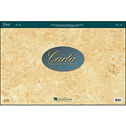 Hal Leonard Carta Scorepad 18X12, 40 Sheet, 20 Stave, Big Band Carta Manuscript (210075)