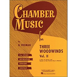 Hal Leonard Chamber Music For Three Woodwinds Vol. 2 Easy To Medium Flute/Clarinet/Bassoon/Or Bass Clarinet (4474590)