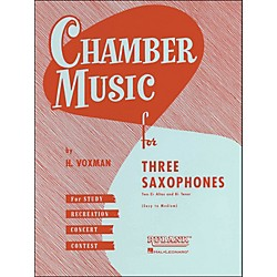 Hal Leonard Chamber Music Series Three Saxophones Two Altos And Tenor - Easy To Medium (4474570)