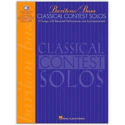 Hal Leonard Classical Contest Solos For Baritone / Bass Book/CD (740076)