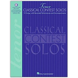 Hal Leonard Classical Contest Solos For Tenor Voice Book/CD (740075)