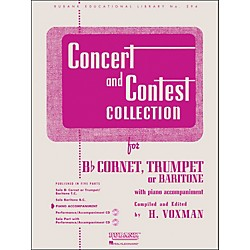 Hal Leonard Concert And Contest Collection - B Flat Cornet Trumpet Or Solo Baritone With Piano Accompaniment (4471740)