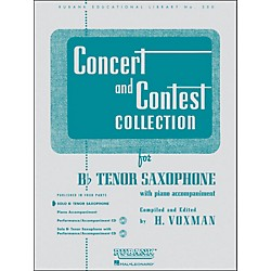Hal Leonard Concert And Contest Collection B Flat Tenor Saxophone Solo Part Only (4471710)