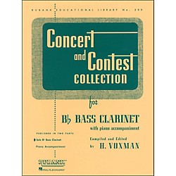 Hal Leonard Concert And Contest Collection For B Flat Bass Clarinet Solo Part Only (4471650)