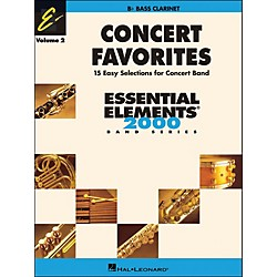 Hal Leonard Concert Favorites Volume 2 Bass Clarinet Essential Elements Band Series (860166)