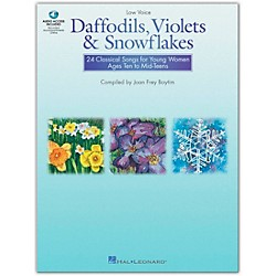 Hal Leonard Daffodils, Violets And Snowflakes For Low Voice Book/CD (740245)