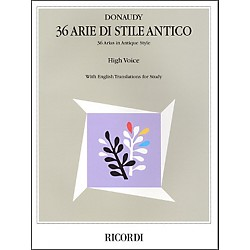 Hal Leonard Donaudy:  36 Arie Di Stile Antico For High Voice (740067)
