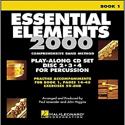 Hal Leonard EE2000 Play Along Trax Book. 1 - Discs 2, 3, & 4 For Percussion (862608)
