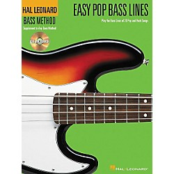 Hal Leonard Easy Pop Bass Lines Tab Book with CD (695809)
