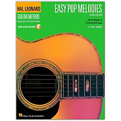 Hal Leonard Easy Pop Melodies - 2nd Edition Guitar Tab Songbook with CD (697268)