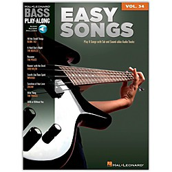 Hal Leonard Easy Songs - Bass Play-Along Volume 34 Book/CD (701480)