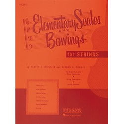 Hal Leonard Elementary Scales And Bowings For Strings For Violin (4473250)