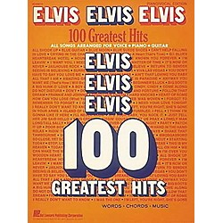 Hal Leonard Elvis Elvis Elvis 100 Greatest Hits Piano, Vocal, Guitar Songbook (306610)