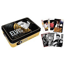 Hal Leonard Elvis Presley Playing Cards 2-Deck Set Gift Tin (117310)