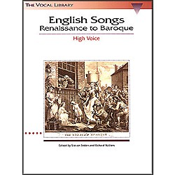 Hal Leonard English Songs - Renaissance To Baroque For High Voice (The Vocal Library Series) (740018)