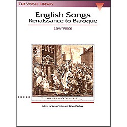 Hal Leonard English Songs - Renaissance To Baroque For Low Voice (The Vocal Library Series) (740019)