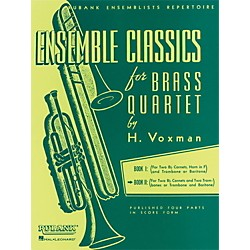 Hal Leonard Ensemble Classics Series Brass Quartets Vol 2 Two Cornets, Trombone, And 2nd Trombone (4475331)