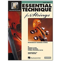 Hal Leonard Essential Technique 2000 For Strings Cello Book 3 Book/CD (868076)
